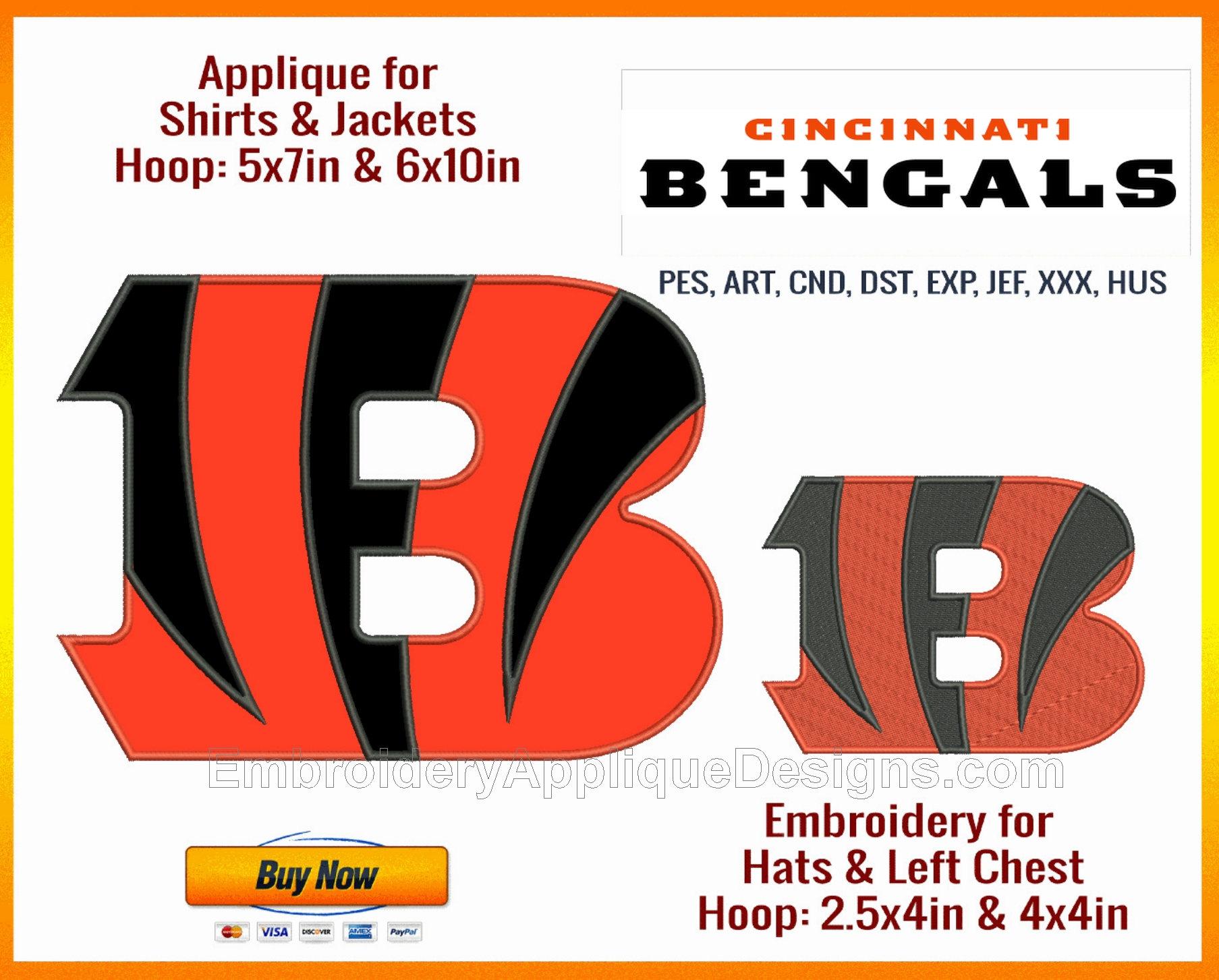 Cincinnati Bengals Sports Team Logo Available As Both Applique